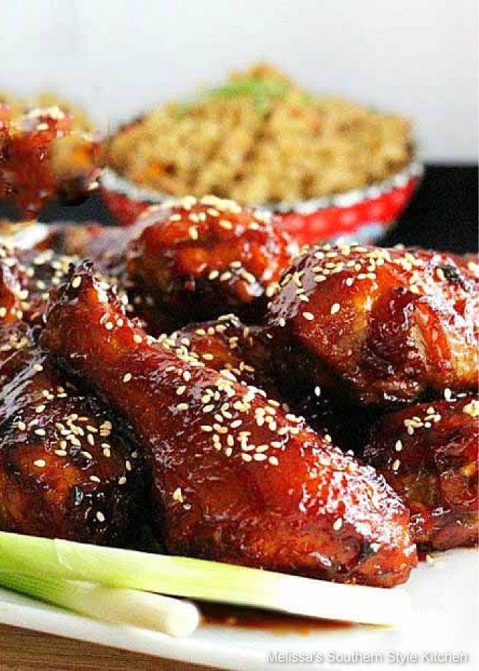 plated chicken drumsticks