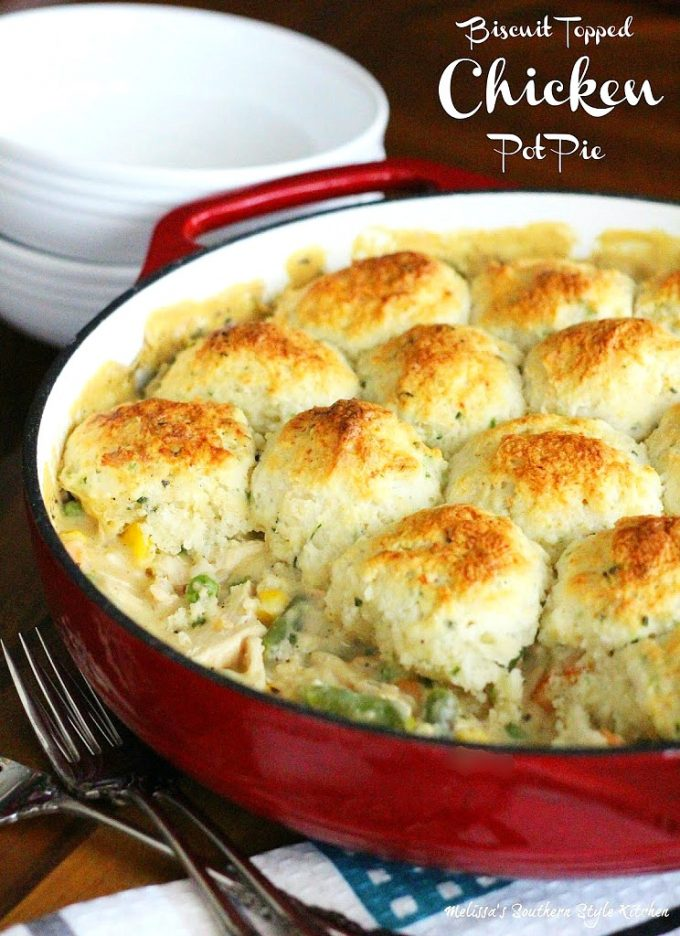 how to make chicken pot pie with biscuits