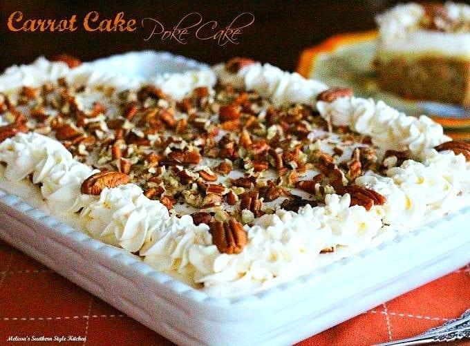 decorated carrot cake sheet cake