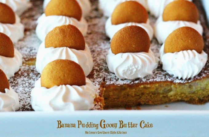 Banana Pudding Gooey Butter Cake