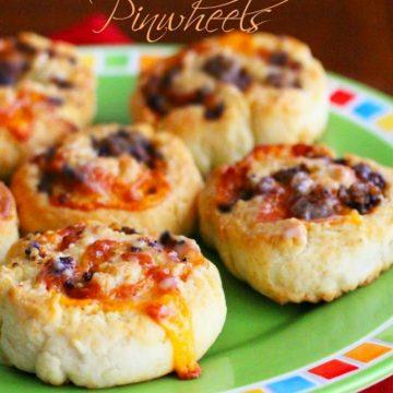 Cheesy Sausage Biscuit Pinwheels Recipe