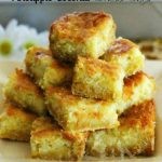 Pineapple Coconut Chess Bars