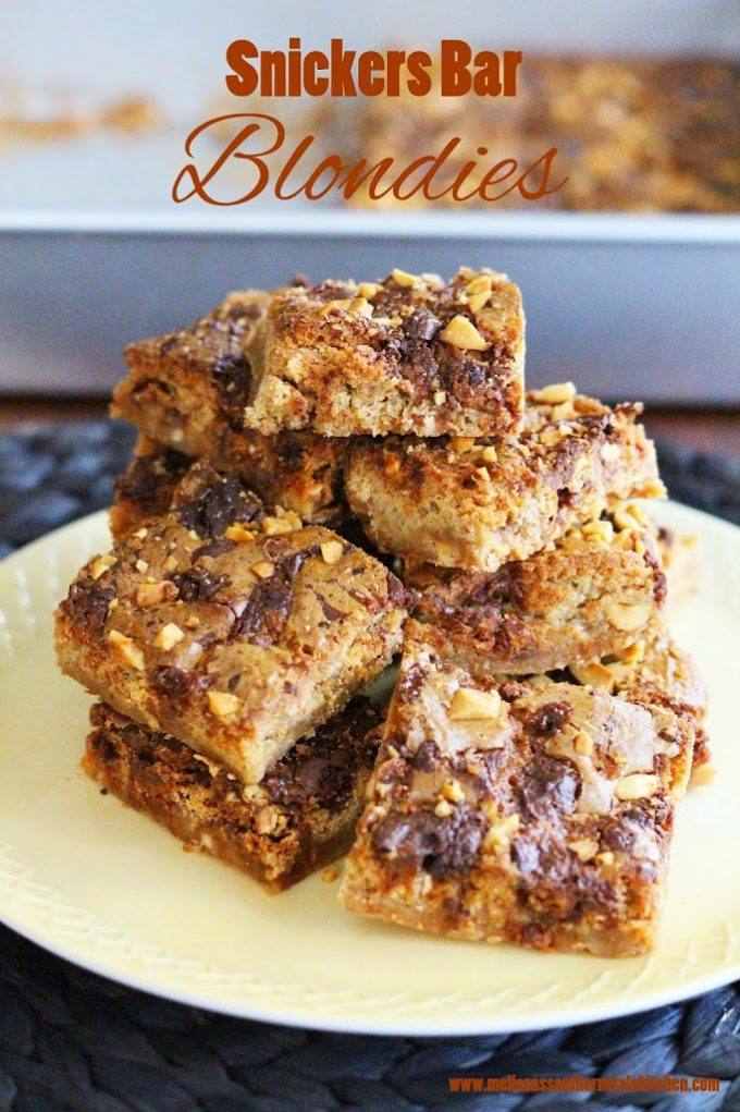 snickers bars blondies