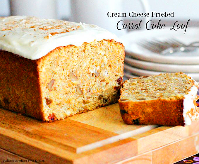easy Cream Cheese Frosted Carrot Cake Loaf