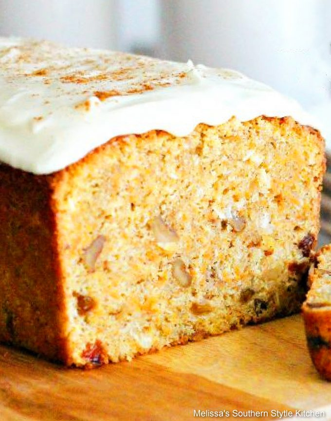 Cream Cheese Frosted Carrot Cake Loaf recipe