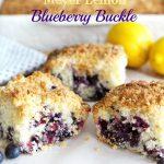 Meyer Lemon Blueberry Buckle