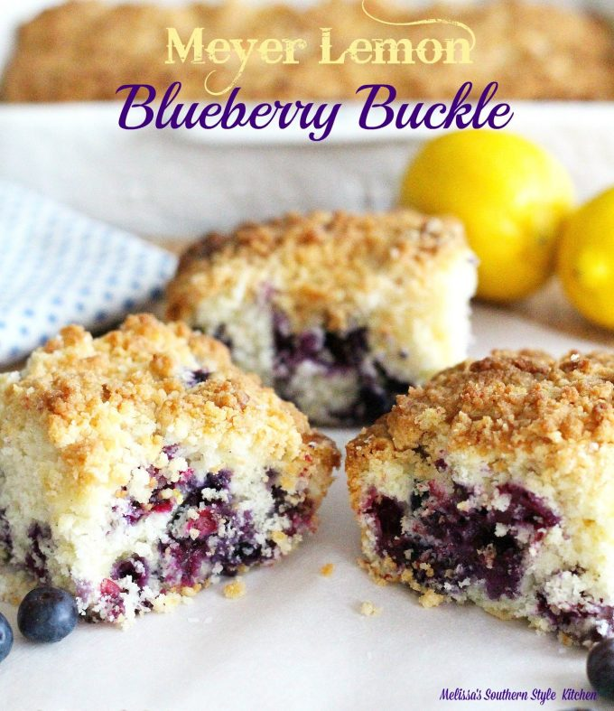 Meyer Lemon Blueberry Buckle