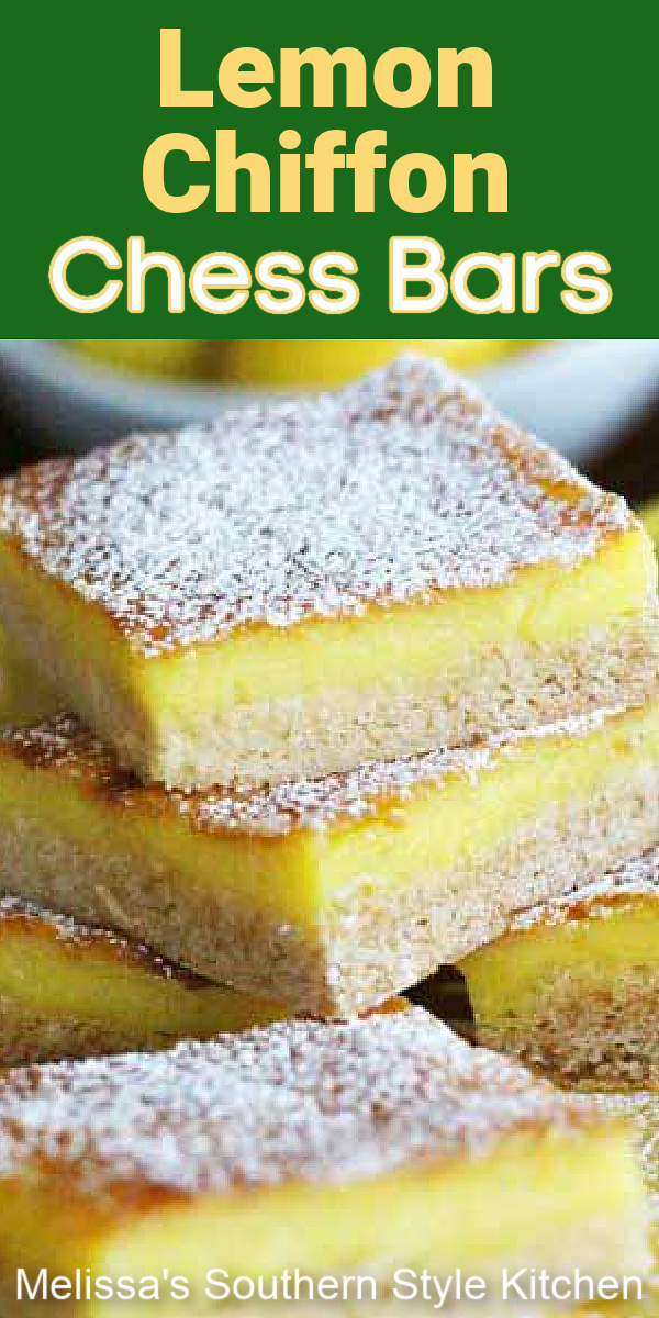 These lemon bars are infused with citrus flavor in every bite #lemonbars #lemonchessbars #lemons #gooeybuttercake #lemon #desserts #dessertfoodrecipes #southeernfood #bbqdesserts #barrecipes #easterdesserts #holidaybaking