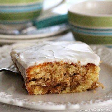Southern style Honey Bun Cake