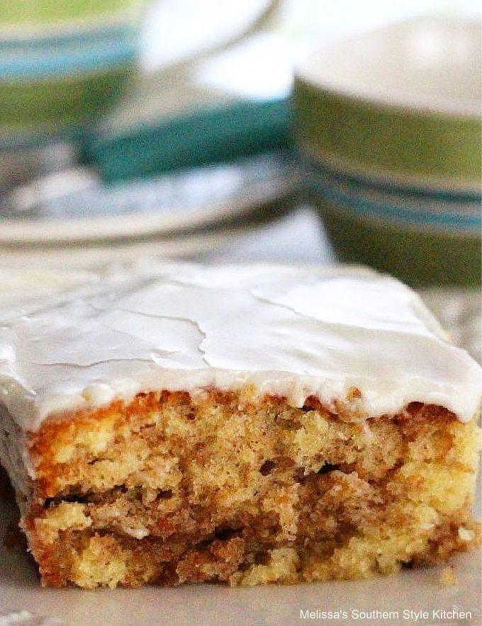 frosted Honey Bun Cake
