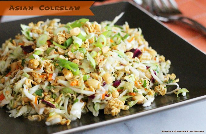 Asian Coleslaw - melissassouthernstylekitchen.com