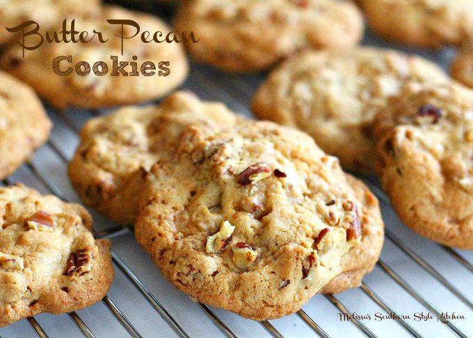 Butter Pecan Cookies - melissassouthernstylekitchen.com