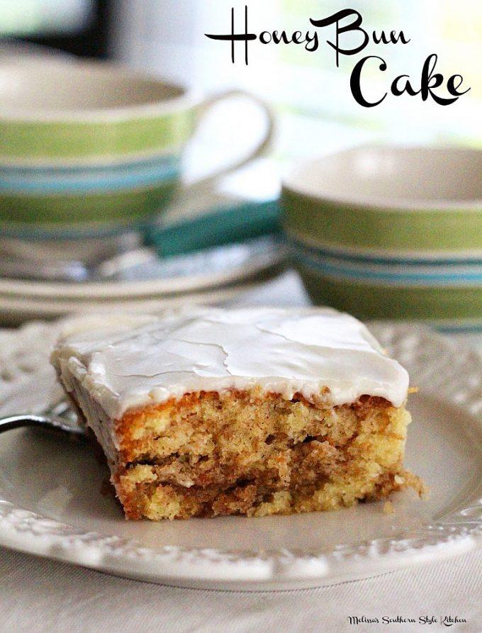 Honey Bun Cake baked