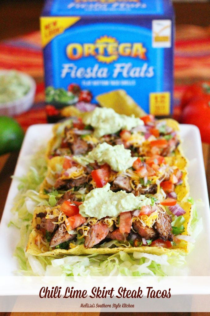 Chili Lime Skirt Steak Tacos With Avocado Cream ...