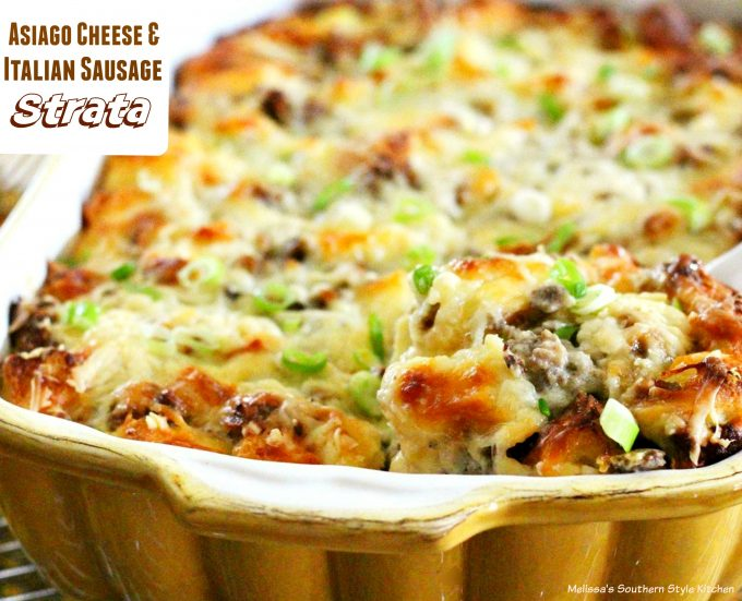 Asiago Cheese And Italian Sausage Strata