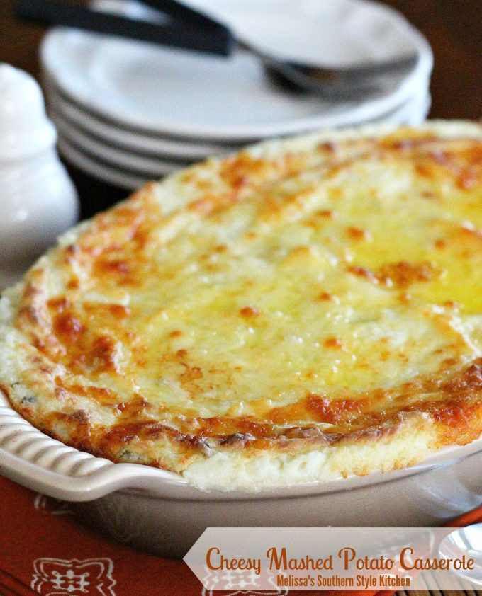 Cheesy Mashed Potato Casserole