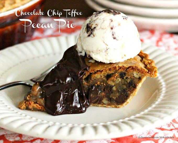 Chocolate Chip Toffee Pecan Pie - melissassouthernstylekitchen.com