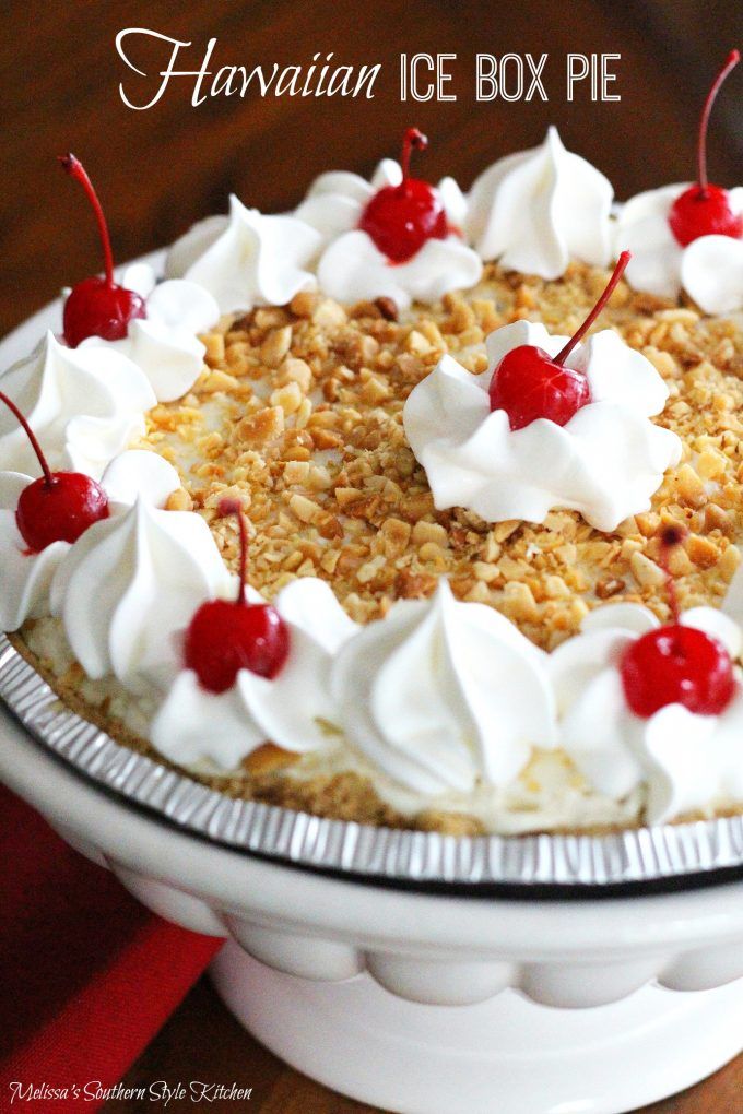 Hawaiian Ice Box Pie - melissassouthernstylekitchen.com