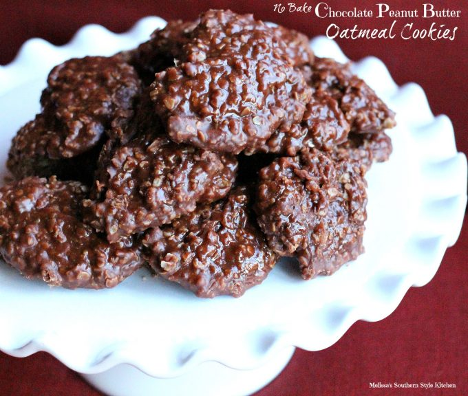 No Bake Chocolate Peanut Butter Oatmeal Cookies ...