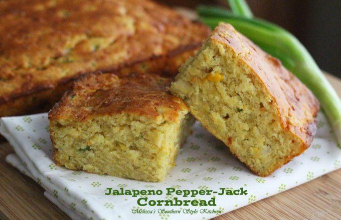 Kickin Jalapeno Pepper Jack Cornbread