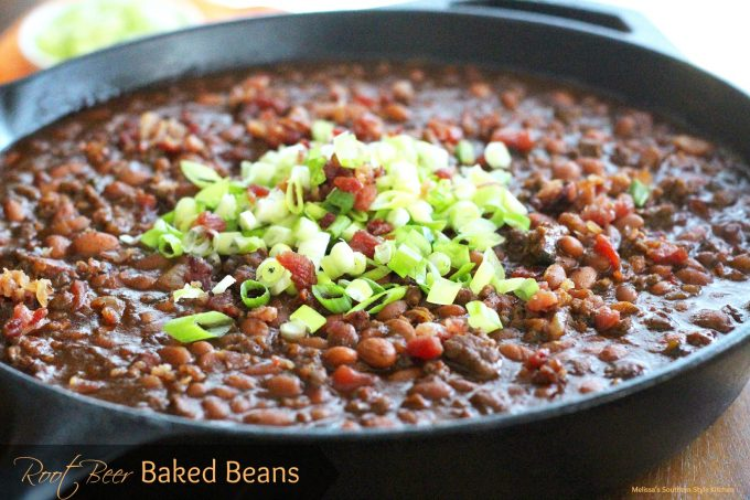 Root Beer Baked Beans - melissassouthernstylekitchen.com