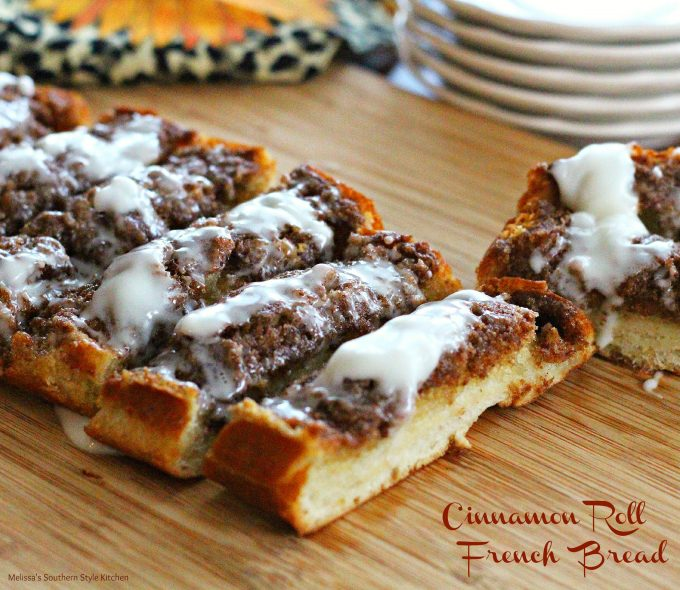 Cinnamon Roll French Bread - melissassouthernstylekitchen.com
