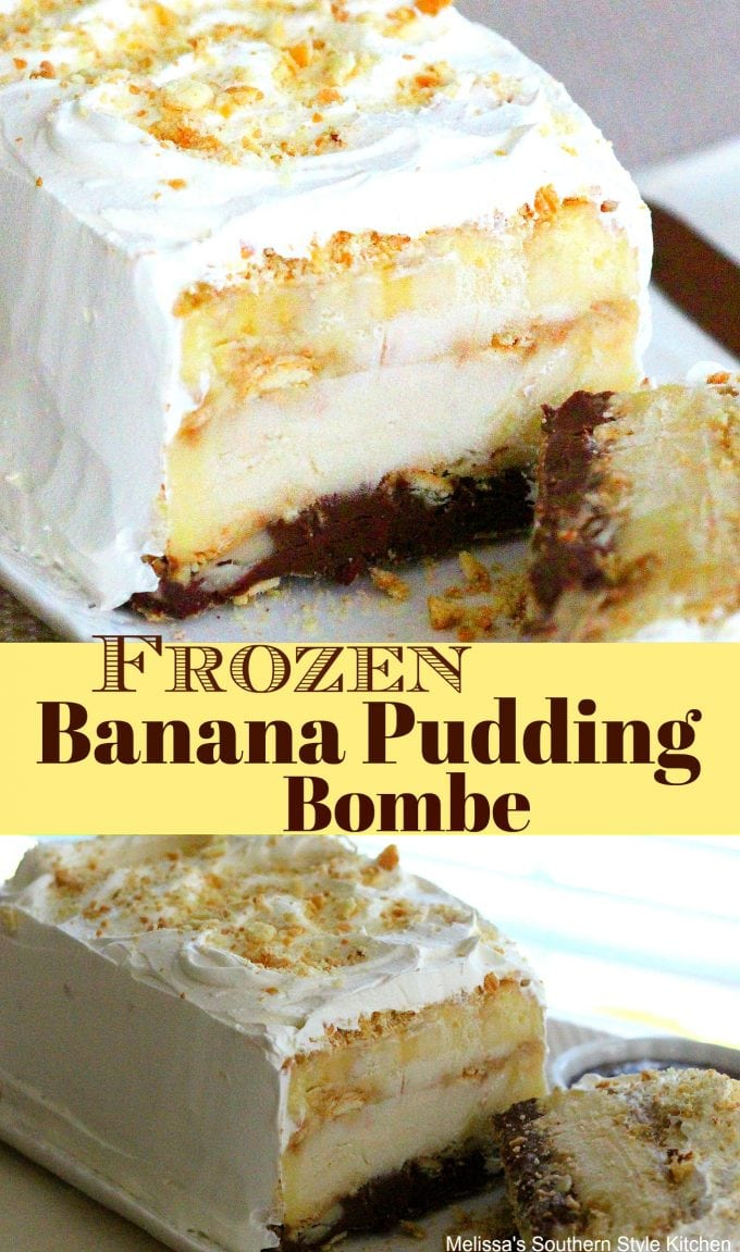 Frozen Banana Pudding Bombe