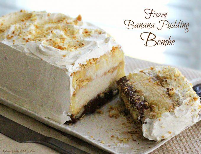 Frozen Banana Pudding Bombe - melissassouthernstylekitchen.com