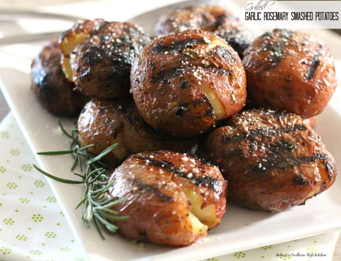 Grilled Garlic Rosemary Smashed Potatoes ...