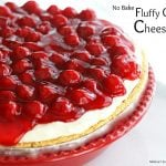 No Bake Fluffy Cherry Cheesecake Recipe