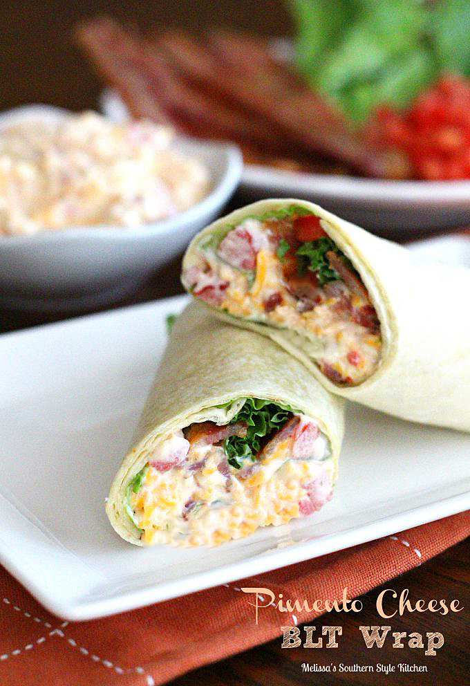 plated Pimento Cheese BLT Wrap