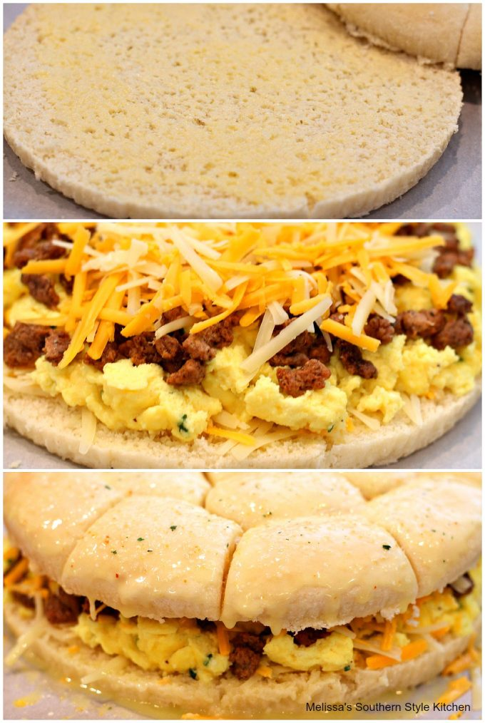 Pull Apart Sausage Egg And Cheese Rolls - melissassouthernstylekitchen ...