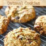 Chocolate Covered Raisin Pecan Oatmeal Cookies