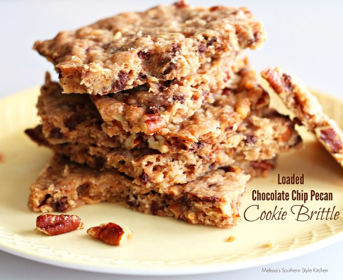 Loaded Chocolate Chip Pecan Cookie Brittle ...