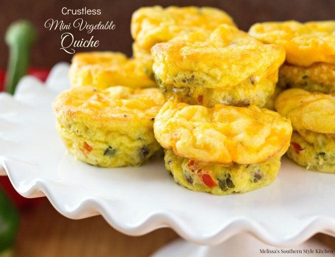 Crustless Mini Vegetable Quiche - melissassouthernstylekitchen.com