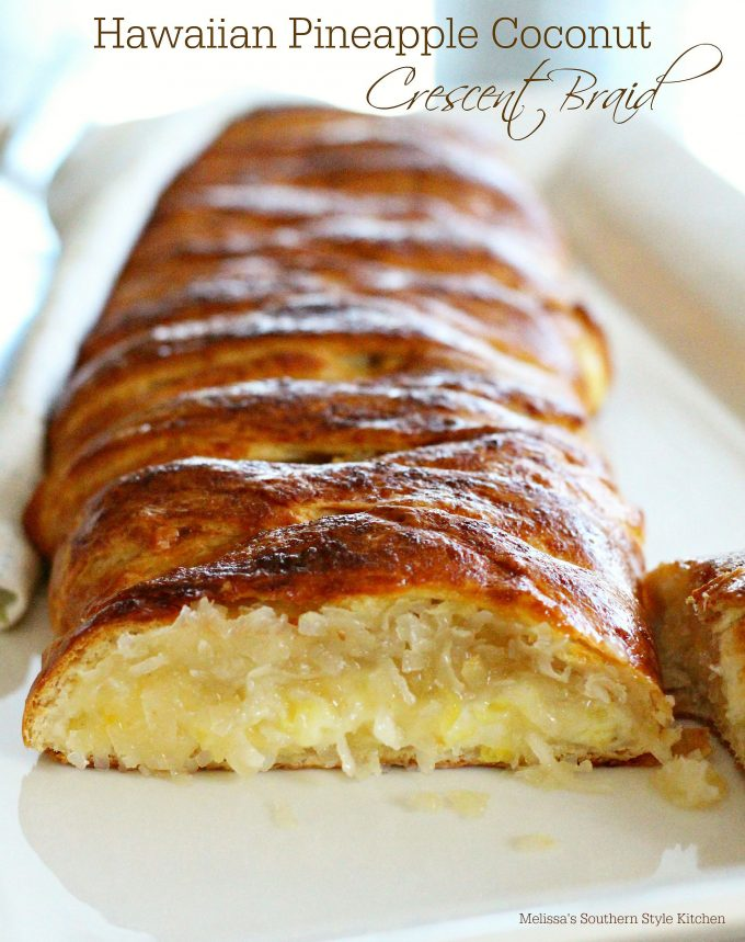 Hawaiian Pineapple Coconut Crescent Braid