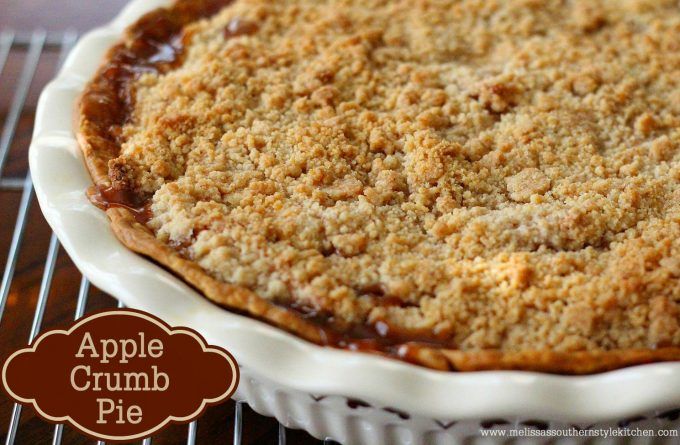 Apple Crumb Pie - melissassouthernstylekitchen.com