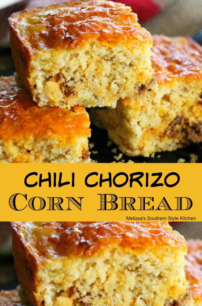 Chili Chorizo Cornbread - melissassouthernstylekitchen.com