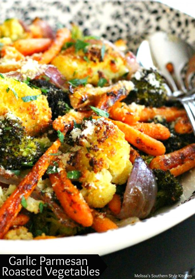 garlic parmesan roasted vegetables