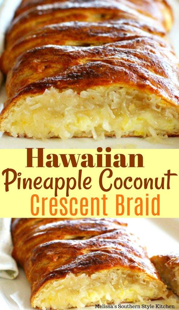 Hawaiian Pineapple Coconut Crescent Braid
