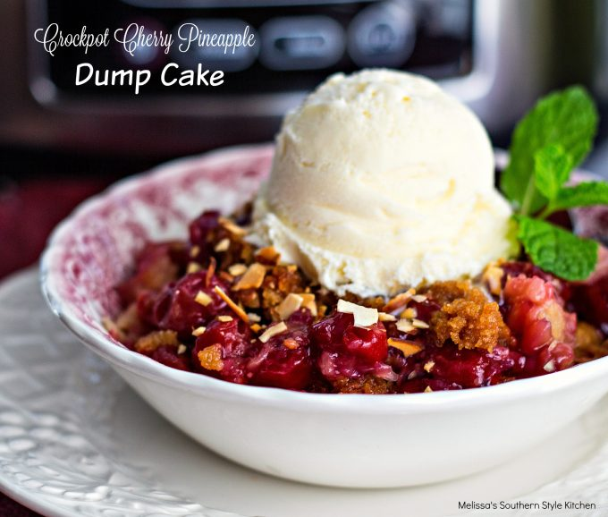 Crockpot Cherry Pineapple Dump Cake