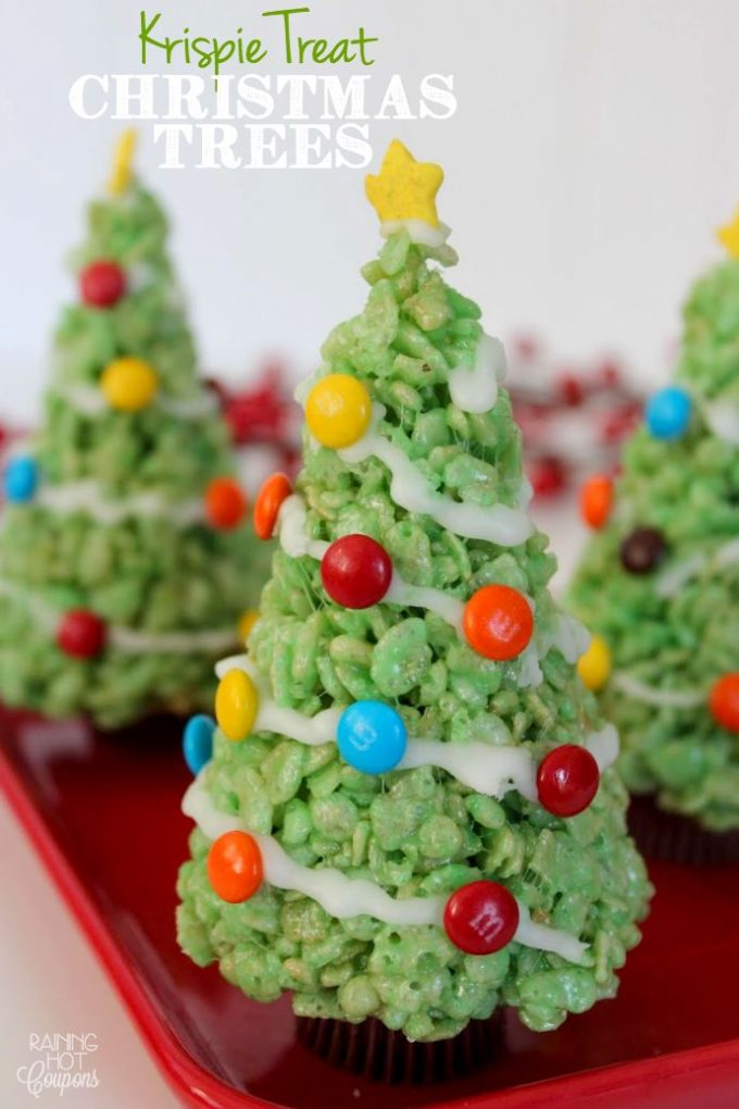 Krispie Treat Christmas Trees