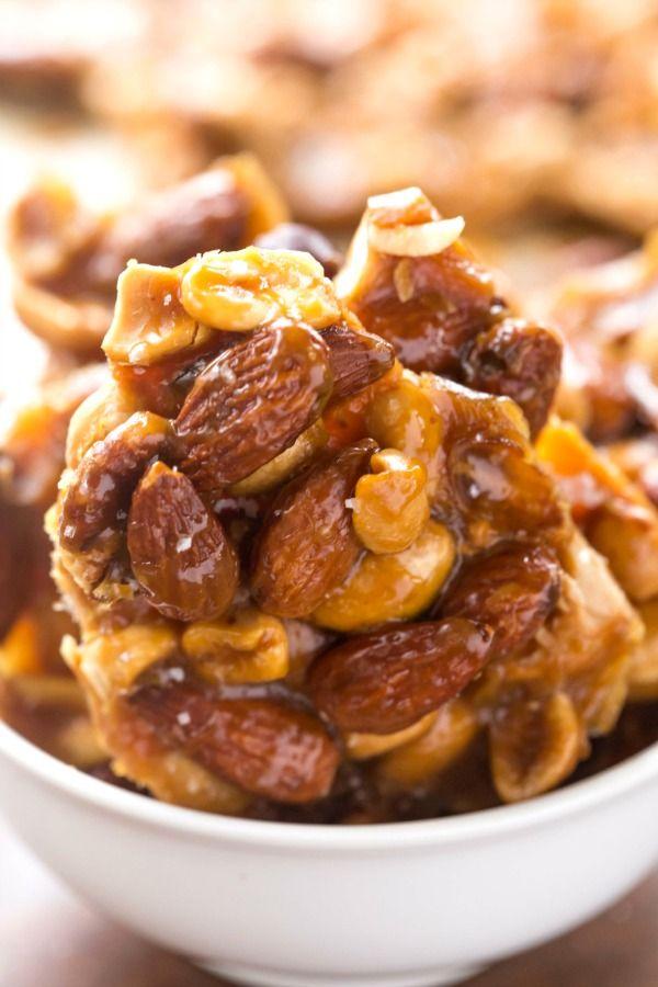 Salted Vanilla Caramel Nut Brittle