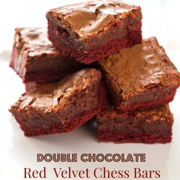 Double Chocolate Red Velvet Chess Bars