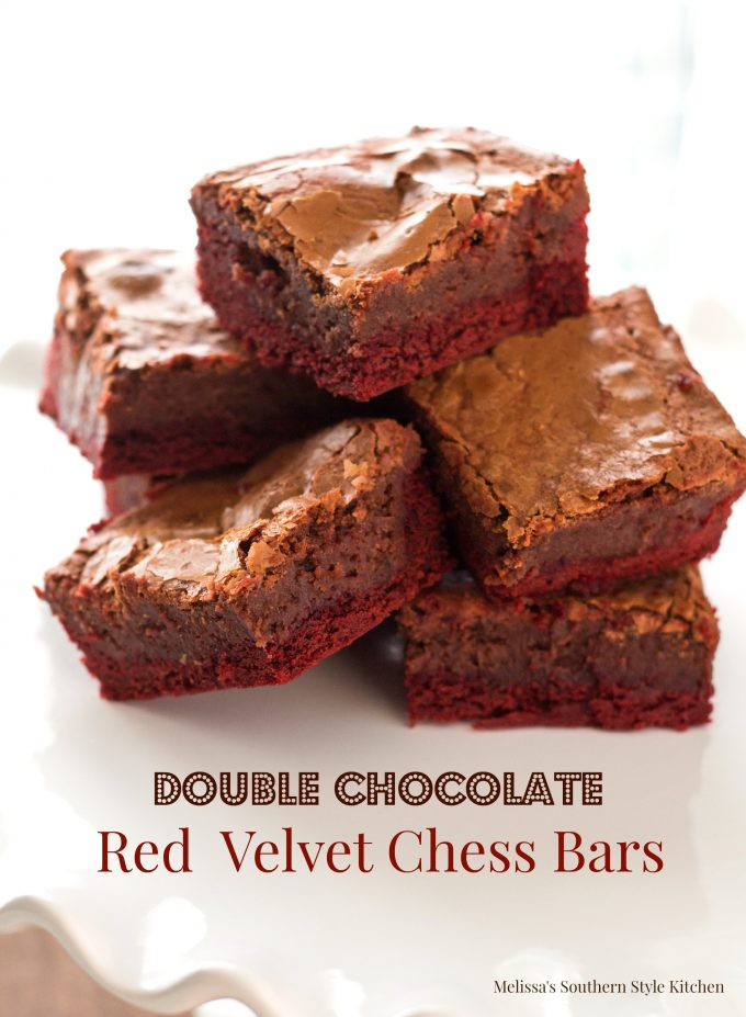 Double Chocolate Red Velvet Chess Bars