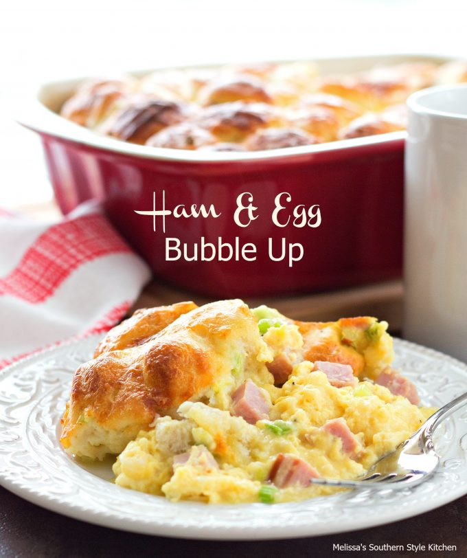 ham and egg bubble up - Cheese Egg Strata