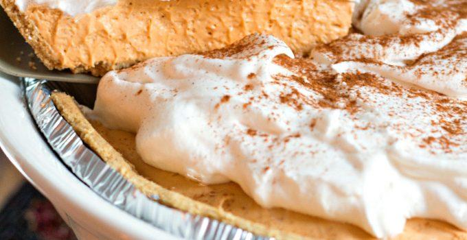 No Bake Pumpkin Spice Cheesecake Pie