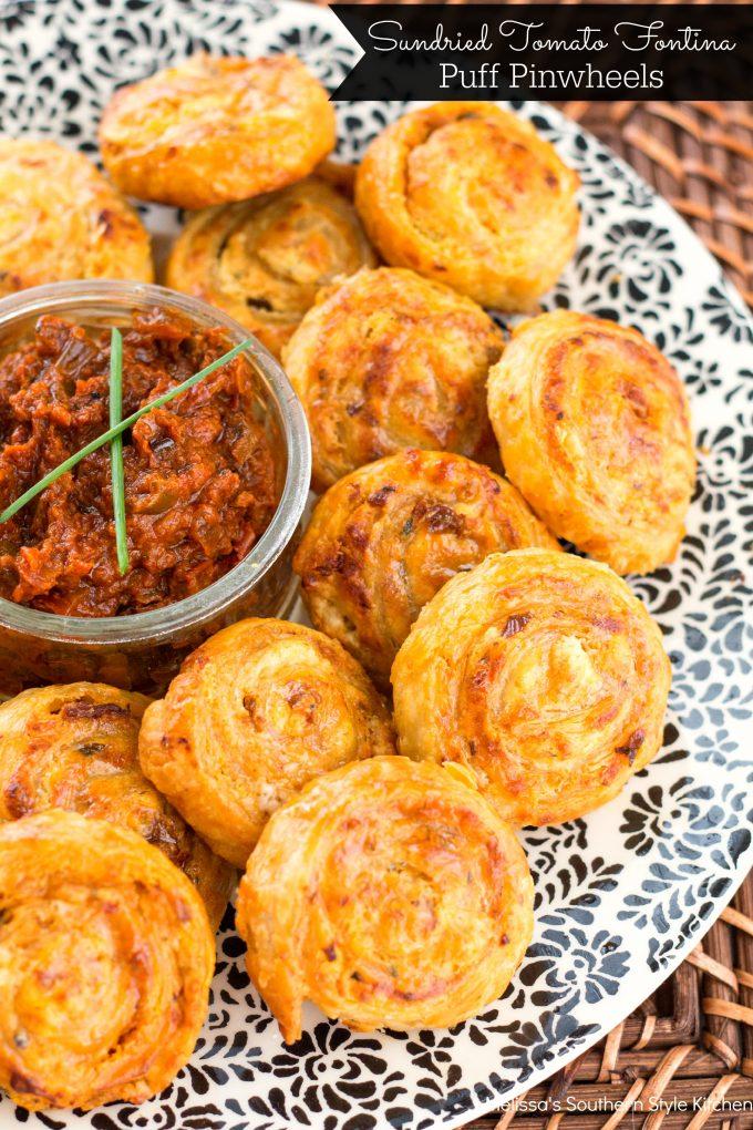 Sundried Tomato Fontina Puff PinwheelsI