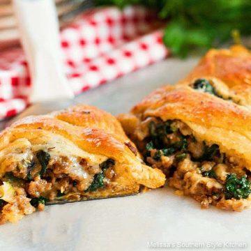 recipe for Italian Sausage Spinach and Havarti Crescent Braid