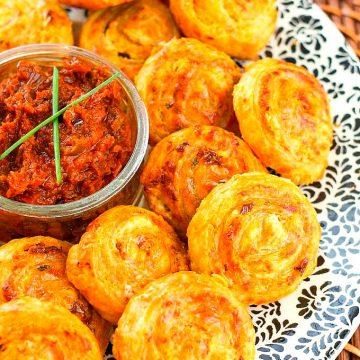 Recipe For Sundried Tomato Fontina Puff Pinwheels